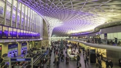 Time lapse view of King's Cross station in London Stock Footage