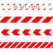 Do not cross the line caution tape Stock Illustration