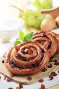 Pains aux raisins - stock photo