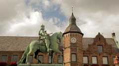 Jan Wellem Equestrian Statue Dusseldorf Stock Footage