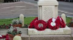 War memorial close up, England Stock Footage