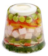 Ham and vegetable aspic Stock Photos