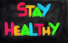 Stay Healthy Concept Stock Illustration