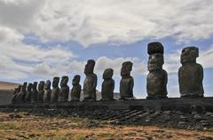Moai Statue in Easter Island, Chile Stock Photos
