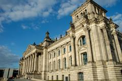 BERLIN, GERMANY - SEPTEMBER 17: German Parliament - Reichstag in capital city Stock Photos