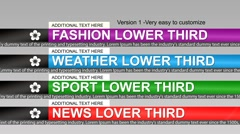 News lower third - stock after effects