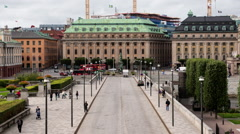 Time Lapse Zoom - Government Buildings -Stockholm Sweden Stock Footage