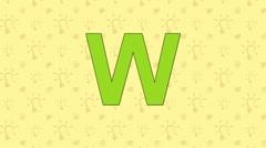 Woodpecker. English ZOO Alphabet - letter W - stock footage