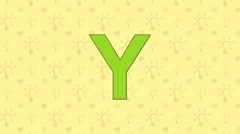 Yak. English ZOO Alphabet - letter Y - stock footage