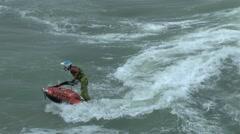 Water Sport Jet Ski Freestyle Tricks - stock footage