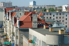 Poznan, Poland - July 11, 2014: Roofs and buildings in Poznan, Poland Stock Photos