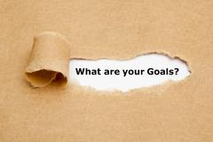 What Are Your Goals Torn Paper Stock Photos