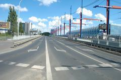 Poznan, Poland - July 13, 2014: Street and unidentified people on railway sta - stock photo