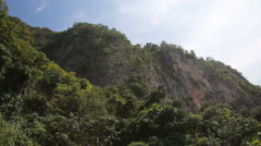 Mountains and rocks with jungle Stock Footage