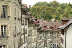 Bern, Switzerland - August 15, 2014: Buildings in Bern, Switzerland. - stock photo