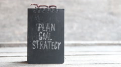 Plan, Goal, Strategy - stock footage