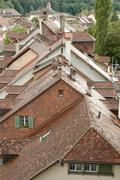 Bern, Switzerland - August 15, 2014: Roofs and buildings in Bern, Switzerland - stock photo