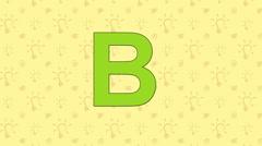 Bear. English ZOO Alphabet - letter B Stock Footage