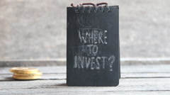 Where To Invest. Investor idea - stock footage