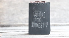 Where To Invest. Investor idea Stock Footage