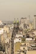 Aerial View of Buenos Aires from Panoramic Viewpoint - stock photo