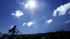 Best Ager on a Bicycle Stock Footage