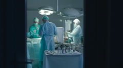 Nusres Assisting Surgeons During the Operation - stock footage