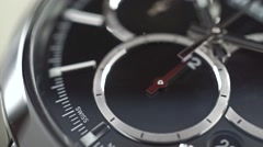 Close up dolly shot of swiss made chronograph Stock Footage