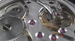Swiss made wrist watch movement, macro video - stock footage