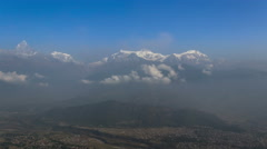 Timelapse of Annapurna ridge. On the left is Fishtail mountain. Stock Footage