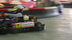 Carting racer - stock footage