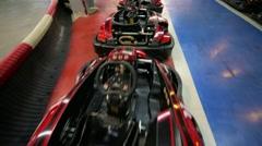 Karting cars Stock Footage