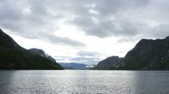 Lake Gjende, Jotunheimen, Norway Stock Footage