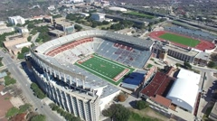 University of Texas Football Stadium Aerial Stock Footage