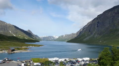 Lake Gjende and Besseggen, Jotunheimen, Norway Stock Footage