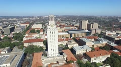 University of Texas Austin Aerial Zoom Out Stock Footage