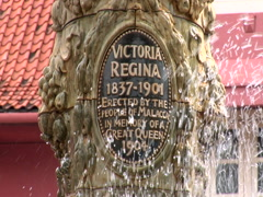Queen Victoria Fountain Malacca, Malaysia Stock Footage