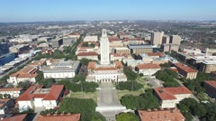 University of Texas Austin fourty Acres Aerial Stock Footage