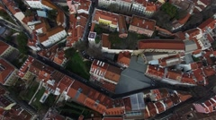 Top View of Alfama, Lisbon, Portugal Stock Footage