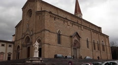 Cathedral Of Arezzo Italy Stock Footage