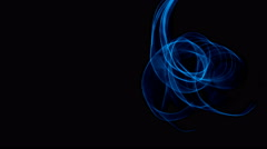 Glowing abstract curved blue lines - Light painted 4K video timelapse - stock footage