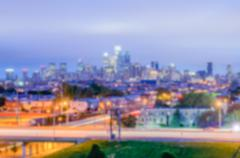 Defocused background of Philadelphia Skyline at Night Kuvituskuvat