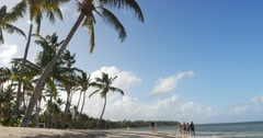 Bavaro beach in Punta Cana, Dominican Republic Stock Footage