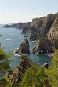 Kitayamazaki Cliff, Sanriku Coast, Shimohei gun, Iwate Prefecture, Japan Stock Photos