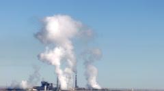 Comanche Generating Station Pueblo Colorado Steam Stock Footage