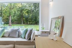 Stock Photo of New design room with window