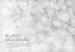 Silver blurred background with twinkly lights - stock illustration