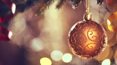 Christmas and New Year decoration. Abstract blurred bokeh holiday background - stock footage