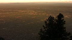 Albuquerque at Dusk from Sandia Peak Stock Footage