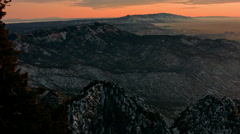Pan of Albuquerque NM at Dusk from Sandia Peak - stock footage